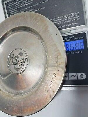 Sterling silver Army Navy football game 1944 friendship dinner plate Wwii  ww2