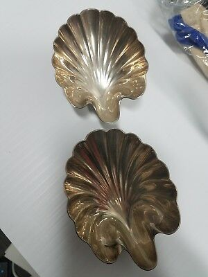 Tiffany & Co Sterling Silver Scalloped Shell Dish Candy, Nuts, 3.76oz  2  lot