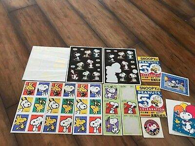 Vintage Lot Of Snoopy / Peanuts Stickers • Nice Variety!