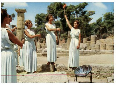(FR 14) postcrd - Greece - Olympia - Lighting the Olympic Flame