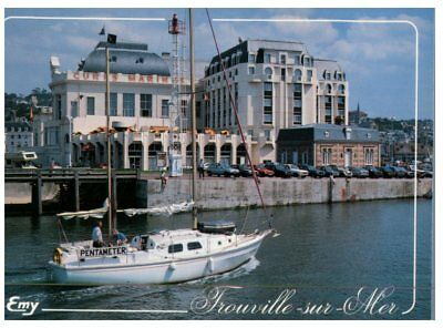 (FR 14) postcrd - France - Trouville Sur Mer - Casino, port and cures marine