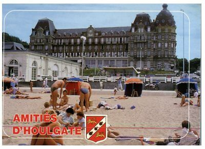 (FR 14) postcrd - France - Houlgate - Casino and beach