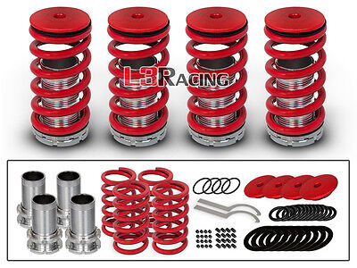 For 98-02 Honda Accord COILOVER LOWERING COIL SPRINGS Kit RED