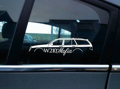 W210 Mafia sticker - for Mercedes w210 E-class e320 e430 e55 estate wagon