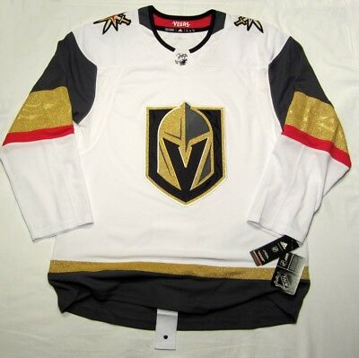 a2c484298 VEGAS GOLDEN KNIGHTS size 46 Small ADIDAS HOCKEY JERSEY Climalite Authentic  Away
