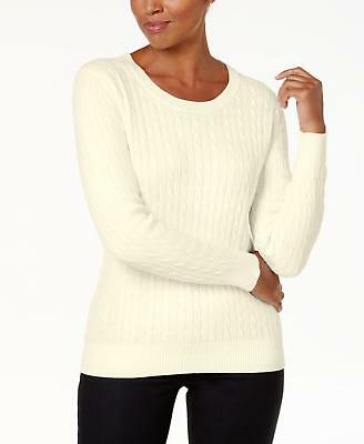 541828ad73 Karen Scott 0416 Size XL Womens NEW Cream Cable Knit Pullover Sweater  46