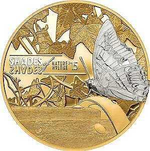 Cook Islands 2015 $5 Shades of Nature - Butterfly 25 g Silver Proof Coin