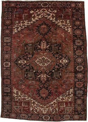 Gorgeous Semi Antique Vintage Geometric Heriz  Rug Oriental Carpet 8X11