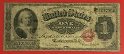 "1886 $1 US ""Martha Washington ""LARGE SIZE"" SILVER Certificate! VG! Old Currency!"