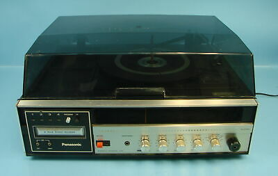 Vintage Panasonic Model SE3190 8 Track AM/FM Stereo Record Player Turntable