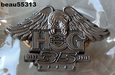 1983-2018 35 YEARS HARLEY DAVIDSON OWNERS GROUP HOG 35th VEST JACKET PIN