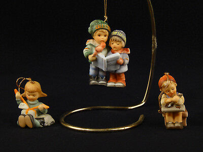 Goebel Hummel CHRISTMAS ORNAMENTS Children 1997 - Set of 3