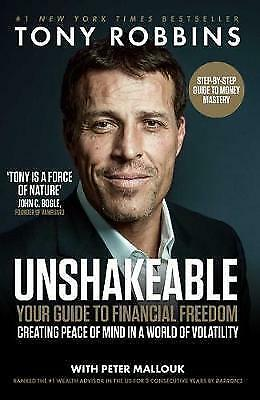 Unshakeable: Your Guide to Financial Freedom by Robbins, Tony, NEW Book, FREE &