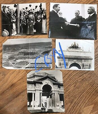 5 Large 1913-1915 Photos SF PPIE PANAMA PACIFIC World Fair-Pre Expo & Pres MOORE