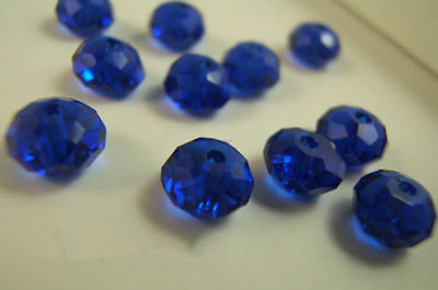 Free NEW Beads Navy Rondelle 6mm 5040 Crystal blue 100PCS findings Spacer Charms