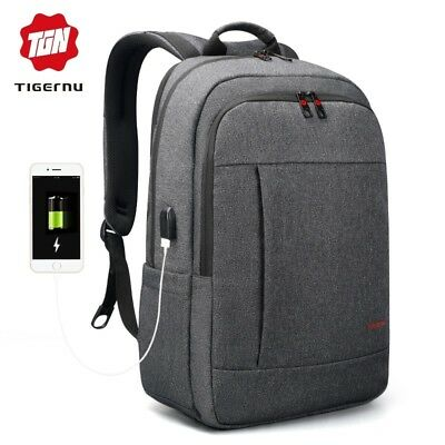 Tigernu Anti thief USB bagpack 15.6 to 17inch laptop backpack for Women Men scho