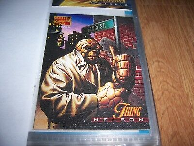 1995 Marvel Masterpieces Comic Chase Canvas Card #21 Thing