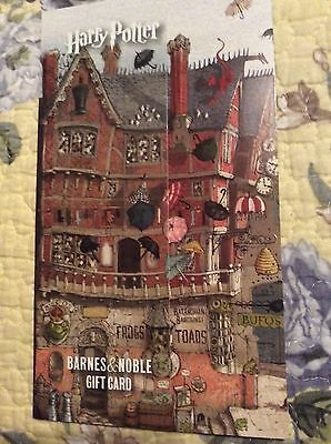HARRY POTTER Barnes & Noble Gift Card BOOKMARK No $ Value (collectible only) WoW