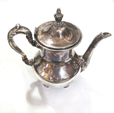 """Vintage Poole Old English 5000 Silver Plate Teapot or Coffee Pot 9"""""""