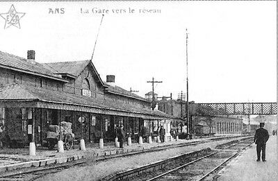 Reproduction photo de la carte postale de la gare d'Ans N°2