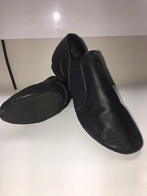 Dance Leather Upper Quality Black Jazz Shoes Pre Owned. Size 7.5