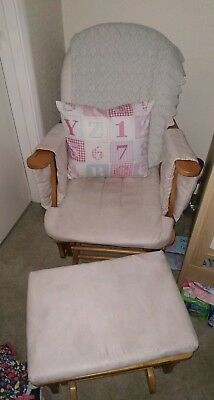 Nursery Rocking / Gliding Chair With Footstool - Northampton