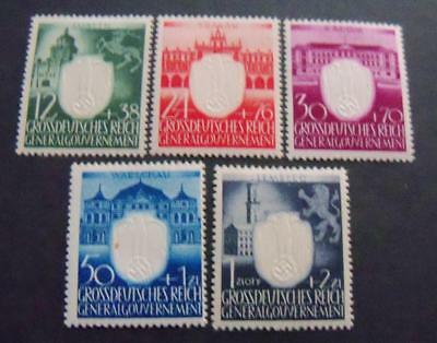 Third Reich Occupation General Government 1943 3th Ann. NS-party  stamps -MH-