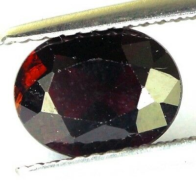 #2.06 cts. 9 x 7.1 mm. UNHEATED NATURAL RED ALMANDINE GARNET OVAL AFRICA