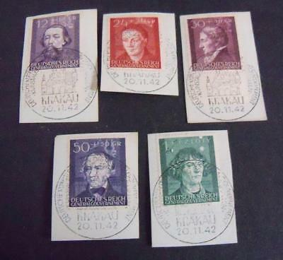 German Third Reich Occupied General Government 1944 Culture funds stamps -USED-