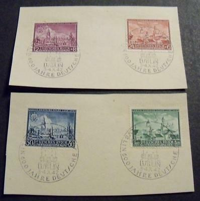 General Government 1942 600th Anniversary of City of Lublin stamp set -Used-