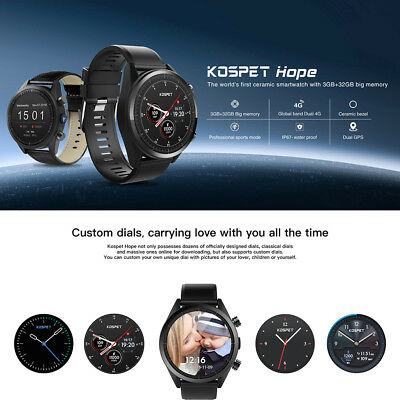 "Kospet Hope 4G Smartwatch Telefono 1.39 "" Android 7.1 Quad-Core 1.3ghz 3gb 32gb"