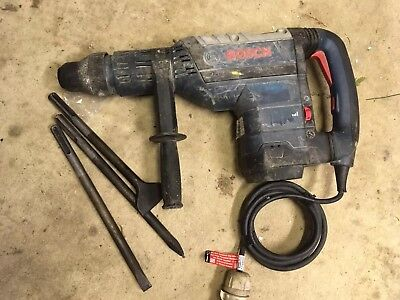 Bosch Gbh 8 Hammer Drill And Breaker 110V Complete With Bolster Point And Chisel