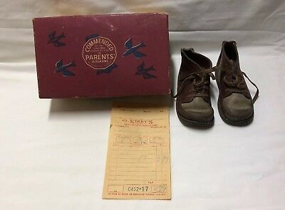 "Vintage Jumping Jacks Leather Child Baby Infant Shoes 5"" × 2 1/4"""