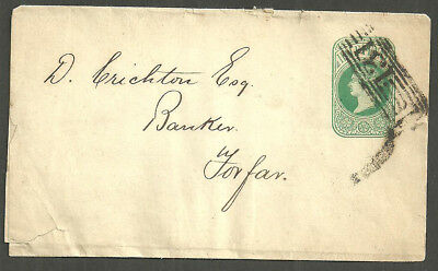 1/2D Qv Undated Green Wrapper 131 Edinburgh Roller To Forfar