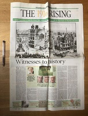 1916 RISING 90th Anniversary Irish Times Supplement + Poster Easter Rebellion