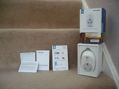 A Smart Wi-Fi Plug Tp-Link Unused In Box With Instructions