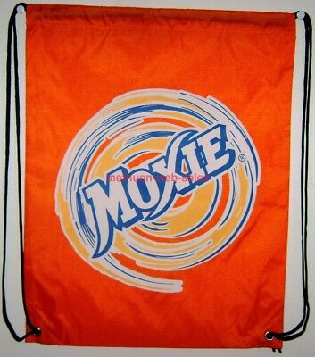 "Moxie~Draw String Bag~Nylon~Backpack~Knapsack~13"" X 17""~Tonic,Soda,Pop,Drink"