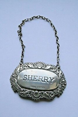 Silver Sherry Decanter Label - Tag