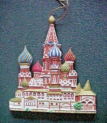 CATHEDRALS OF THE WORLD CHRISTMAS ORNAMENT  St. Basil's Moscow, Russia