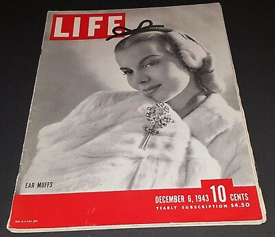 December 6, 1943 LIFE Magazine WWII Era 40s adds ads add  FREE SHIPPING Dec. 12