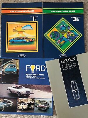 LOT Of 34 Ford Lincoln Mercury Dealer Brochures Mustang Cougar Thunderbird MORE