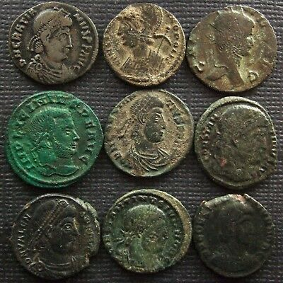 Roman Imperial; A job lot of 9 AE coins; various types
