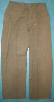 Pantalon en serge laine M-1937 US WW2 Trousers Wool OD Light Shade Special 1943
