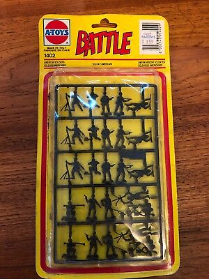 A-Toys Battle American Soldiers 1402 Made In Italy