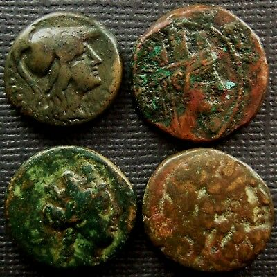 Ancient Greek or Roman Republic; A job lot of 4 AE coins