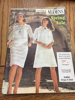 Alden's Chicago 1968 Spring Sale Catalog 286 Pages With Order Forms
