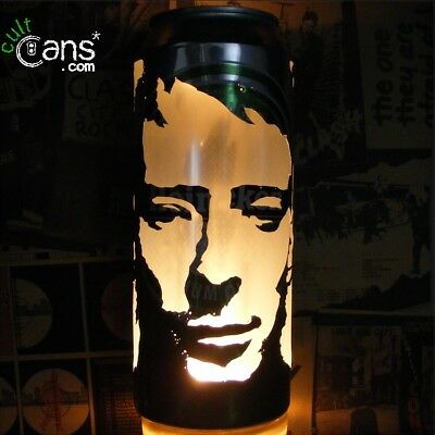 Thom Yorke Beer Can Lantern! Radiohead Pop Art Portrait Candle Lamp, Unique Gift