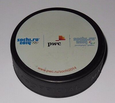 SOCHI 2014 RUSSIA official sponsor hockey puck PWC olympic games 2014 paralympic