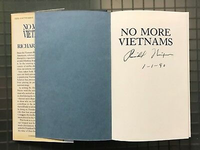 President Richard Nixon Signed NO MORE VIETNAMS Hardcover Book JSA LOA AUTO