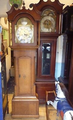 Very Nice Antique Oak Longcase Clock In Full Working Order